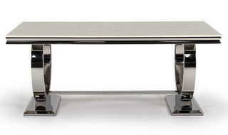 Arabella Dining Table - Mirrored furniture - Sparkle Diamond - House of Sparkles