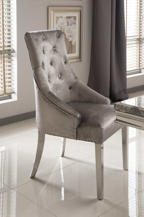 Arizona Dining Chair - Mirrored furniture - Sparkle Diamond - House of Sparkles