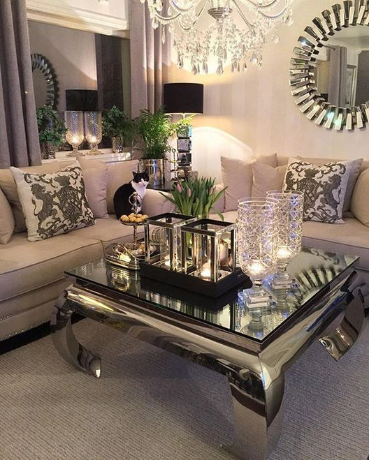 The Buckingham Square Chrome Coffee Table