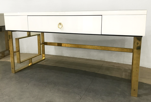 The Dubai Statement White and Gold Coffee Table