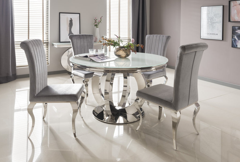 Donatella Dining Table Only - Mirrored furniture - Sparkle Diamond - House of Sparkles