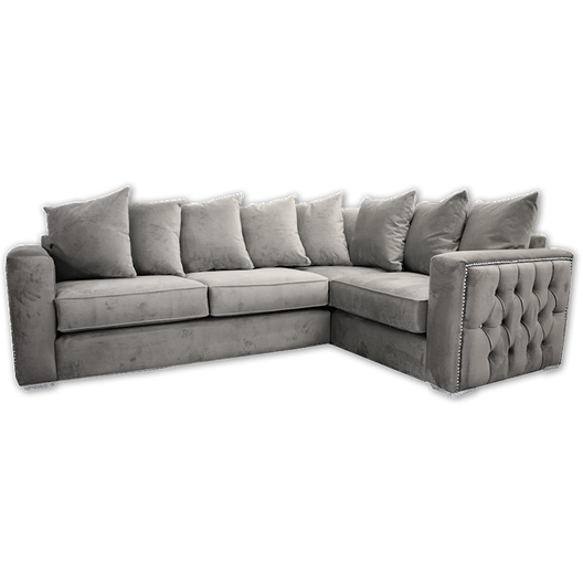 Isabella Chesterfield Side Corner Sofa in Grey