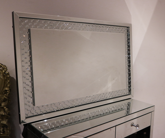 Floating Crystal LED Wall Mirror