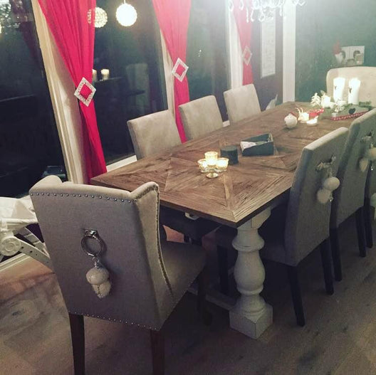 Arlington Dining Table | HOS Home | Mirrored furniture | Affordable Luxury
