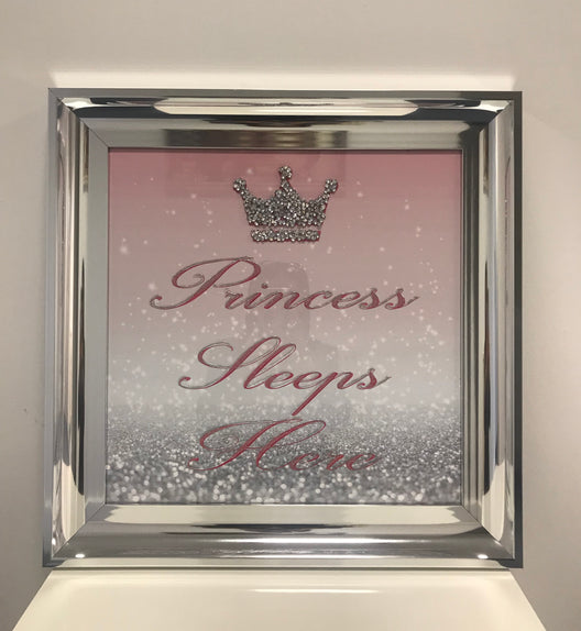 Princess Sleeps Here Diamond Wall Art
