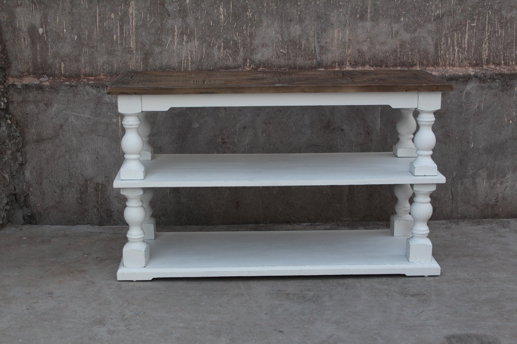Arlington Console Table in Wood and White | HOS Home | Mirrored furniture | Affordable Luxury