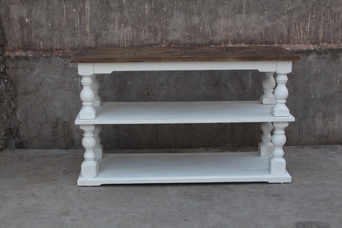 Image of Arlington Console Table in Wood and White | HOS Home | Mirrored furniture | Affordable Luxury