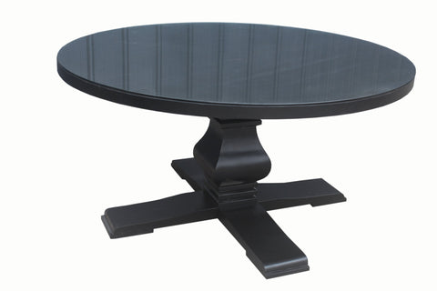 Charlton Dining Table in Black - Mirrored furniture - Sparkle Diamond - House of Sparkles