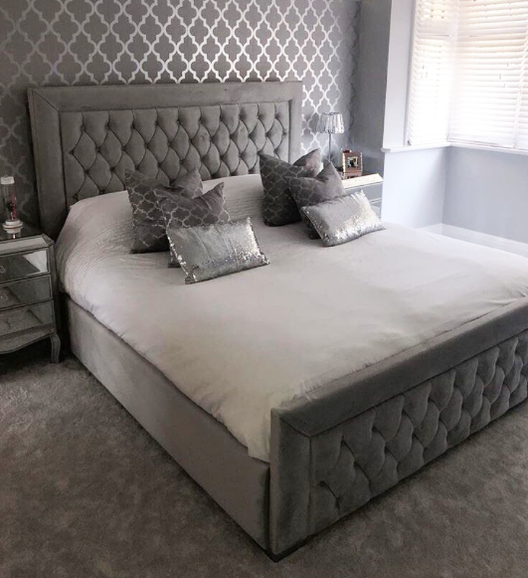 Broadway Bed | HOS Home | Mirrored furniture | Affordable Luxury