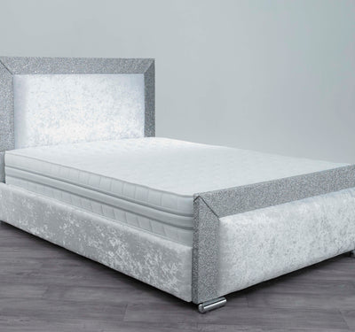 Alexis Glitter Bed | HOS Home | Mirrored furniture | Affordable Luxury