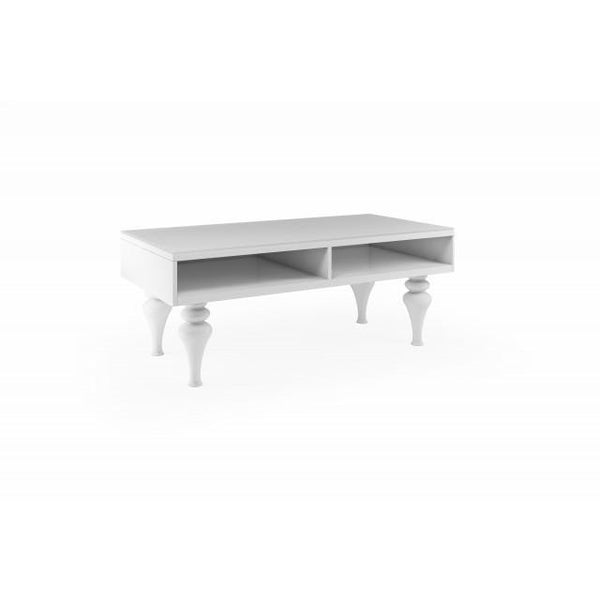 White empire coffee table high gloss house of sparkles for Caprice marble dining table