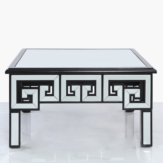 Aztec Mirrored Coffee Table in Black | HOS Home | Mirrored furniture | Affordable Luxury