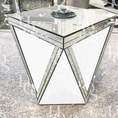 Image of Premium White Mirror 'V' Mirrored Side Table
