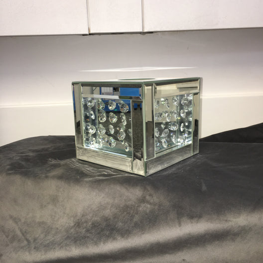 Floating Crystal Cube Tissue Box