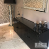 Black Mirror Crush 4 Door Sideboard - Mirrored furniture - Sparkle Diamond - House of Sparkles