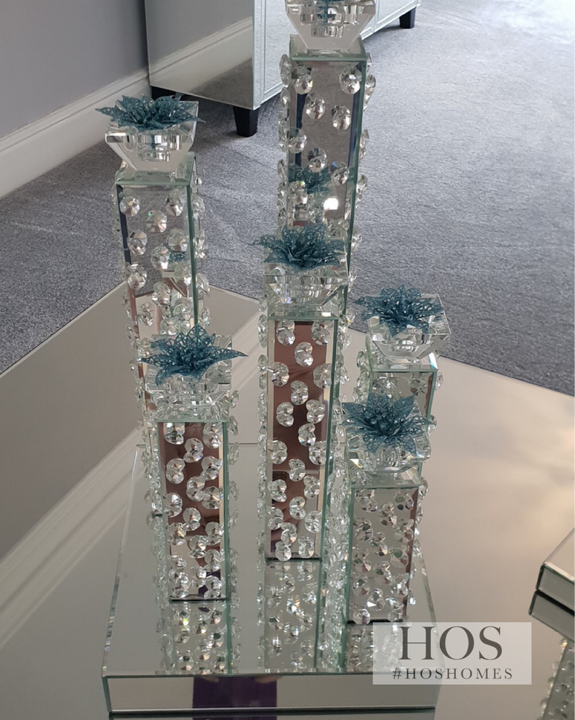 Floating Crystal 6 Piece Candelabra