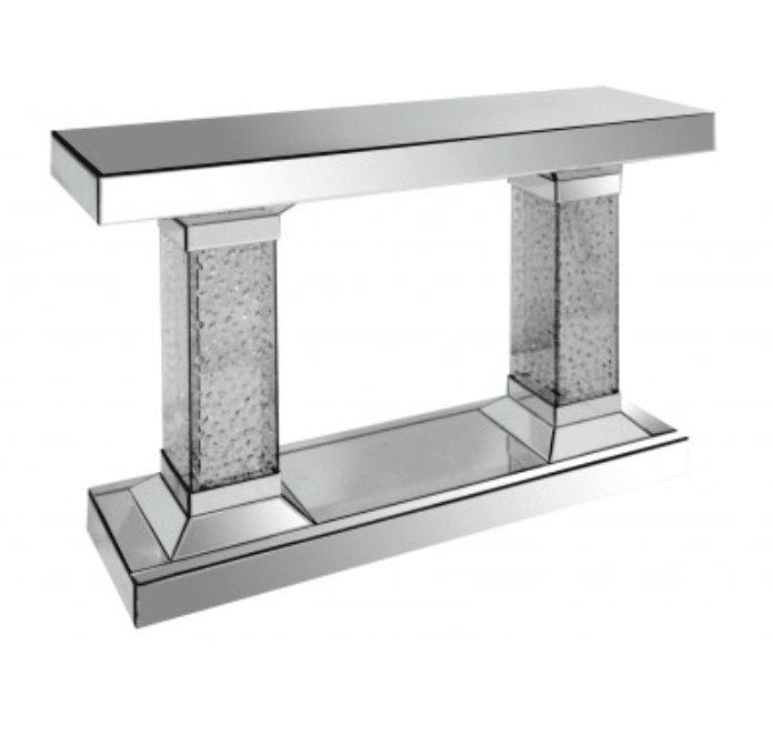 Floating Crystal Pillar Console Table House Of Sparkles