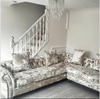 A Victoria Collection Corner Sofa - Mirrored furniture - Sparkle Diamond - House of Sparkles