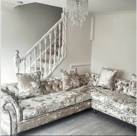 mirrored living room furniture.  A Victoria Collection Corner Sofa Living Room House of Sparkles