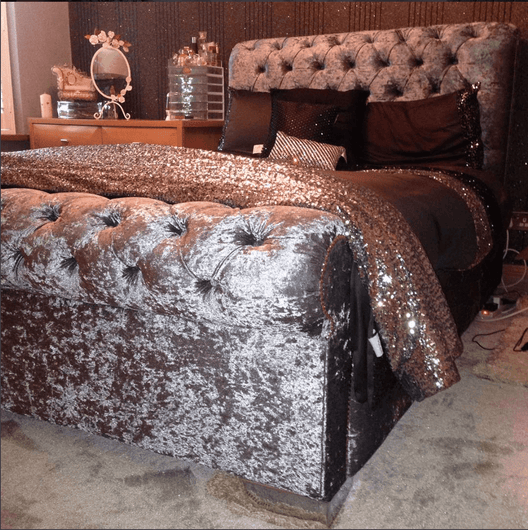 Bellagio Bed | HOS Home | Mirrored furniture | Affordable Luxury