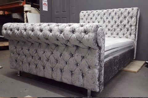 The Di Caprio Bed - Mirrored furniture - Sparkle Diamond - House of Sparkles