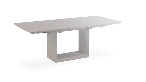 Walnut grey high gloss extending dining table house of for Caprice marble dining table
