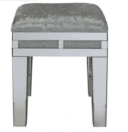 Sparkle Diamond Mirror Stool - Mirrored furniture - Sparkle Diamond - House of Sparkles