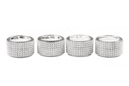 Diamond Tealight Candle Holder Set Of 4 | HOS Home | Mirrored furniture | Affordable Luxury