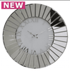 Classic Mirrored 60x60 Round Wall Clock - Mirrored furniture - Sparkle Diamond - House of Sparkles