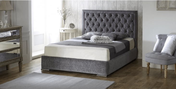 The Mayfair Bed - Mirrored furniture - Sparkle Diamond - House of Sparkles