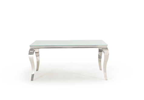 Skyline White Dining Table 160cms - Mirrored furniture - Sparkle Diamond - House of Sparkles