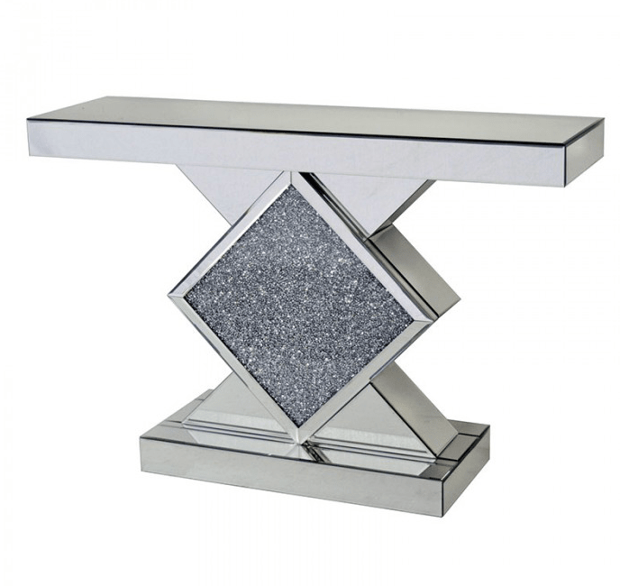 Diamond Crush Diamond Console Table - Mirrored furniture - Sparkle Diamond - House of Sparkles