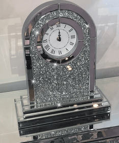 Sparkle Diamond Table Clock - Mirrored furniture - Sparkle Diamond - House of Sparkles