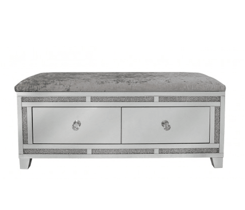 Image of Sparkle Diamond Ottoman Box - Mirrored furniture - Sparkle Diamond - House of Sparkles