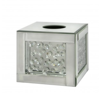 Floating Crystal Cube Tissue Box - Mirrored furniture - Sparkle Diamond - House of Sparkles