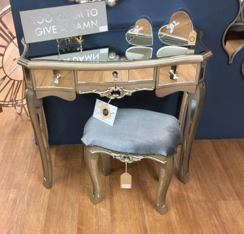 Argente Antique Mirrored Dressing Table