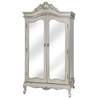 Antique Argente Mirrored Wardrobe - Mirrored furniture - Sparkle Diamond - House of Sparkles
