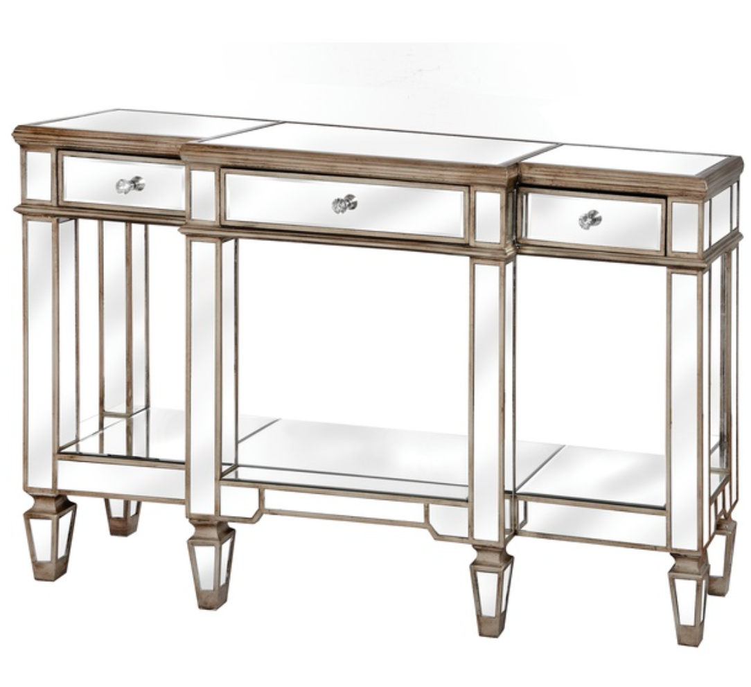 The Belfont Collection Mirrored Display Console