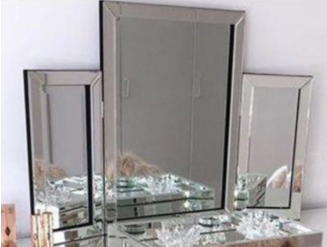 Classic Vanity Dressing Table Mirror - Mirrored furniture - Sparkle Diamond - House of Sparkles