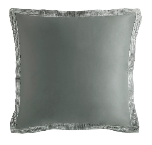By Caprice - Alexia Sham Cushion Cover Pair in Grey | HOS Home | Mirrored furniture | Affordable Luxury