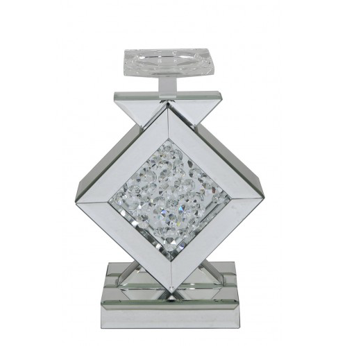 Floating Crystal Diamond Candle Holder - Mirrored furniture - Sparkle Diamond - House of Sparkles