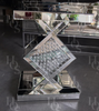 Floating Crystal Diamond Side Table - Mirrored furniture - Sparkle Diamond - House of Sparkles