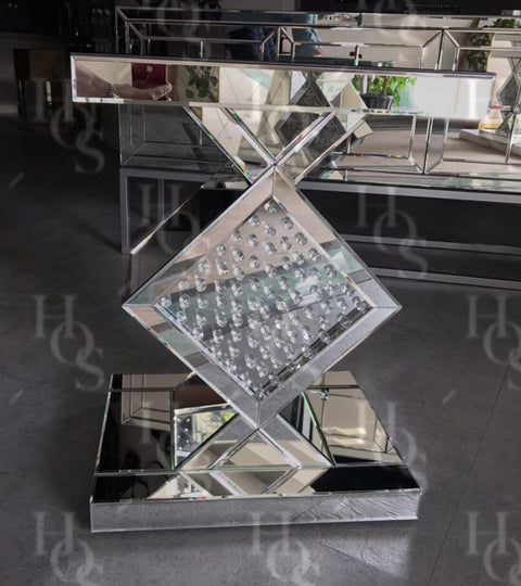 Floating Crystal Diamond Side Table