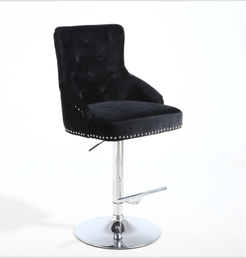 NEW Black Leona Bar Stool with metal base