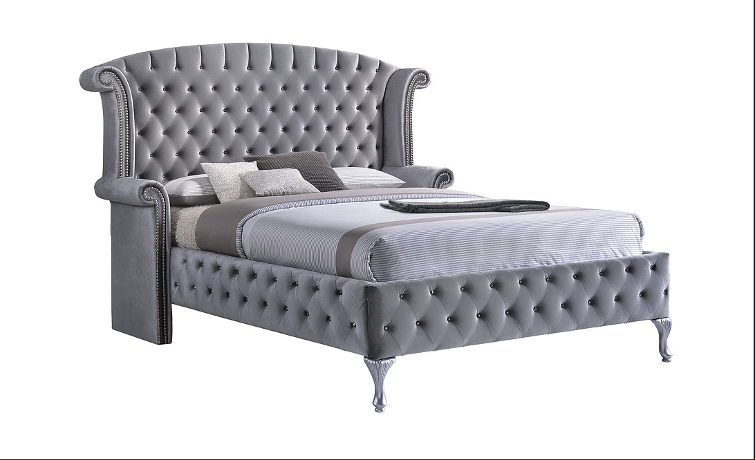 The Alessia Bed in Grey