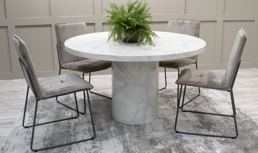 Carra Round Dining Table | HOS Home | Mirrored furniture | Affordable Luxury