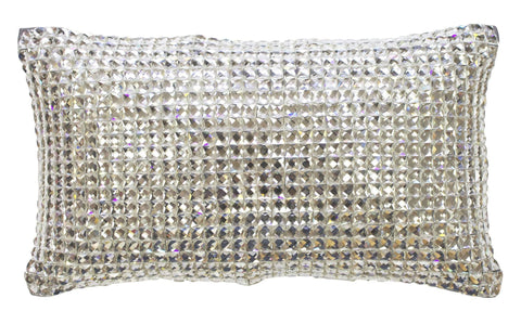 Kylie Bedding - Square Diamond Cushion - Mirrored furniture - Sparkle Diamond - House of Sparkles