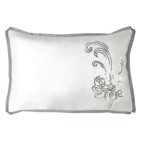 By Caprice - Valeria Embroidered Metallic Floral Pillowcases - Mirrored furniture - Sparkle Diamond - House of Sparkles