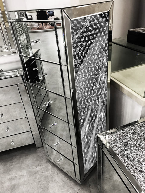 Floating Crystal 6 Drawer Tallboy