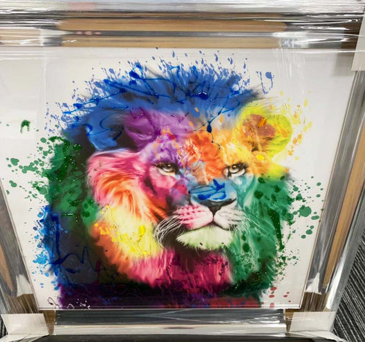 Lion Rainbow Wall Art